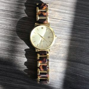 Kate Spade watch with tortoise and gold links